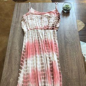 Boutique tie dye maxi dress